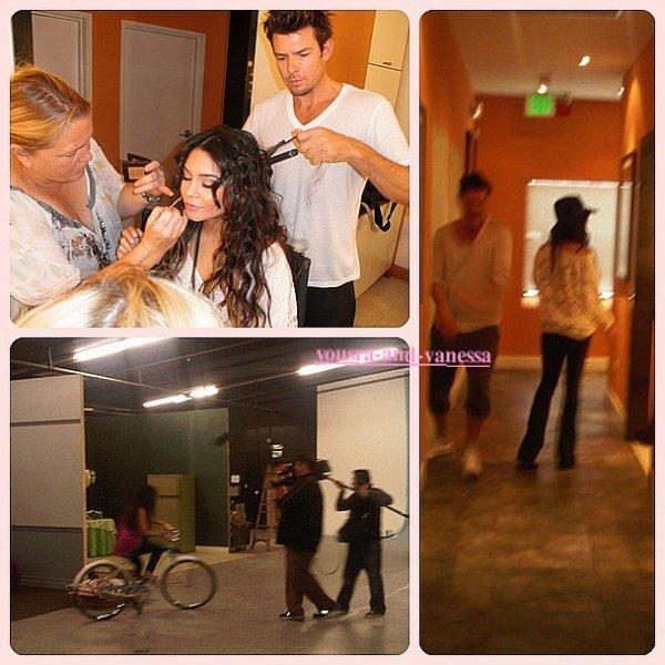 Vanessa, elle est actuellement en train de réaliser un photoshoot pour Candie's. Trois photos ont été postées sur twitter par le site alors que la belle allait pour se faire maquiller, et lors du maquillage