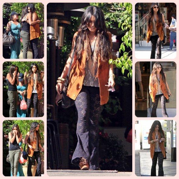 (28/04)vanessa  elle a été vue faisant du shopping au Westfield Mall de Sherman Oaks avec sa petite soeur et sa mère.