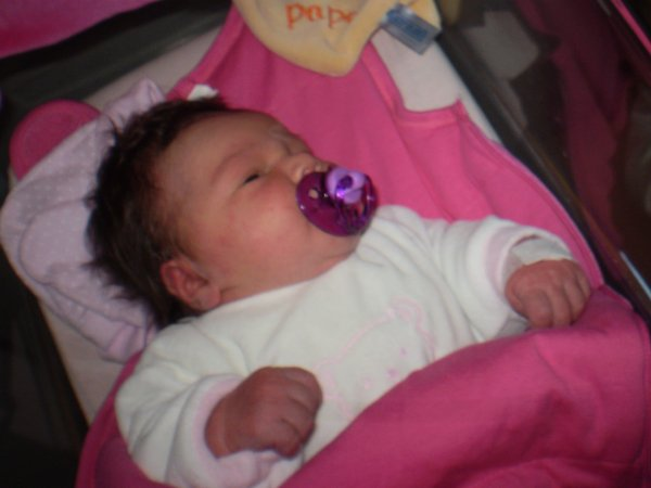 ma fille le jour de sa naissance