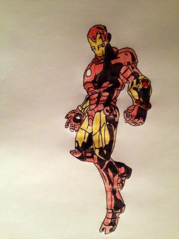 Iron man final dessin manga et comics - Dessin de iron man ...