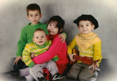 mais 4 enfants Nathan Justine Florian Gaëtan