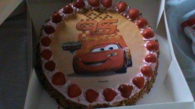 le gâteaux de l anniversaire des 2ans de mon fils Gaëtan