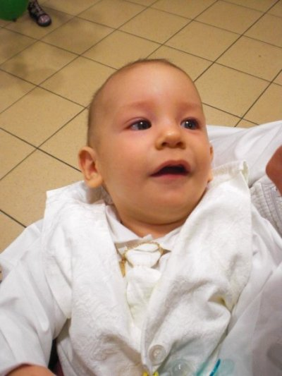 mon fils gaetan a son baptême