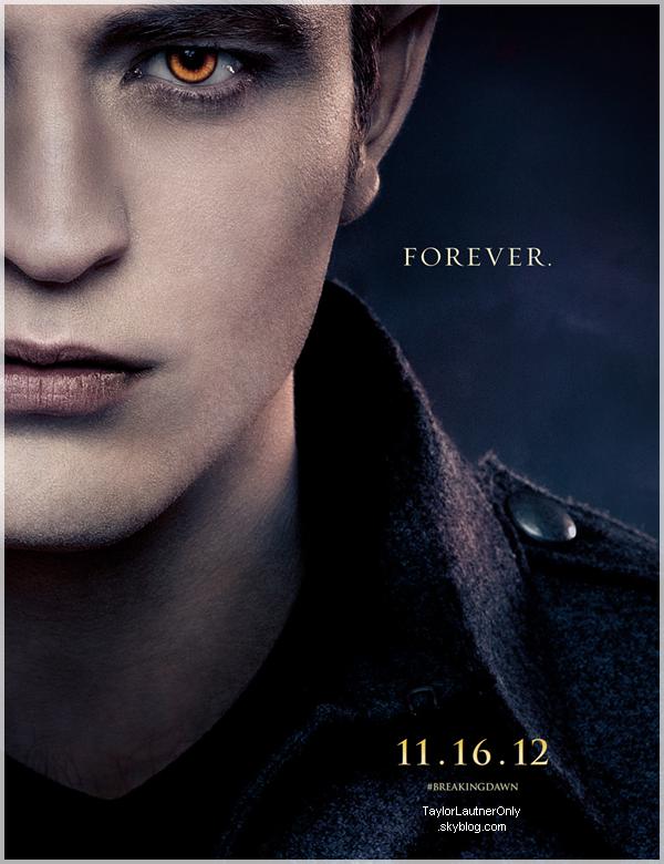 . Les photos promotionnelles du trio de Twilight sont apparues : .