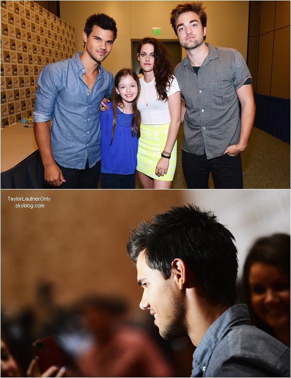 . Le cast de Twilight était au Comic-Con de San Diego le 12 juillet ♥.