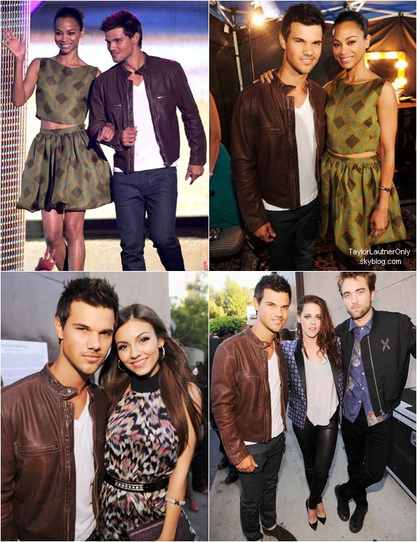 . Taylor était présent aux Teen Choice Awards 2012, un top pour sa tenue :) ♥ .