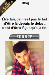 . 13 aout 2012 : Taylor Lautner Only est BLOG STAR ! .