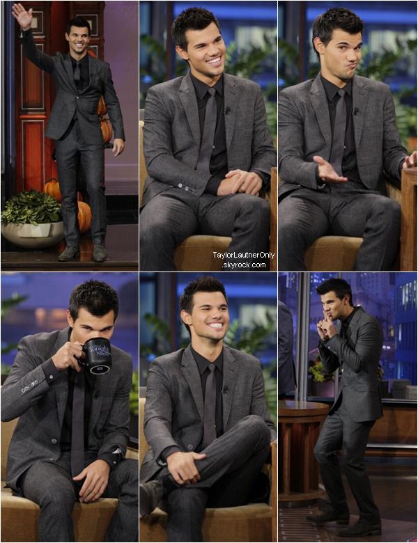 . Taylor a l'émission de Jay Leno le 31 octobre 2012 : .