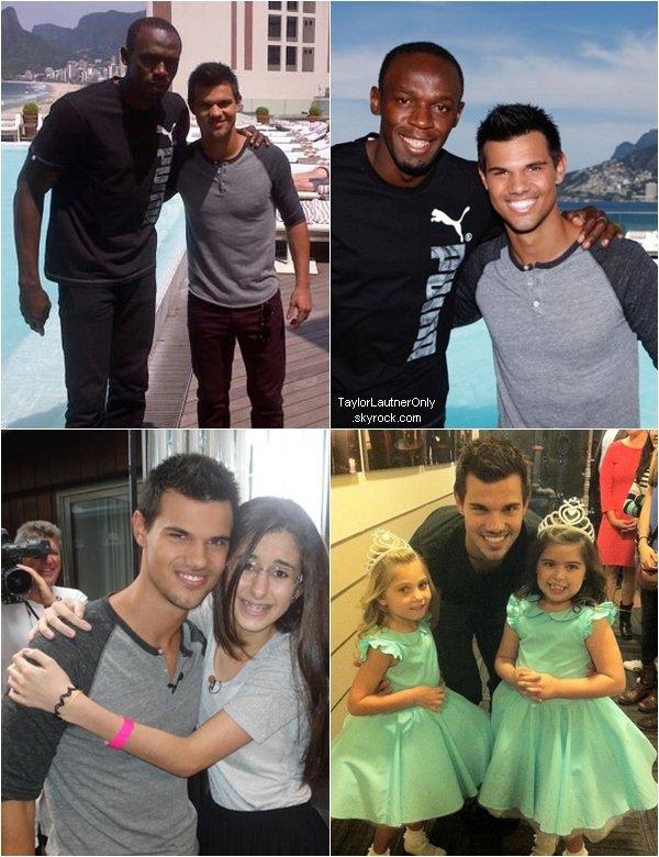 . De nouvelles photos de Taylor au Brésil avec Usain Bolt : .