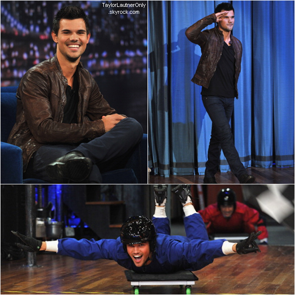 . Taylor poursuit la promotion de Twilight et participe à l'émission de Jimmy Fallon : .