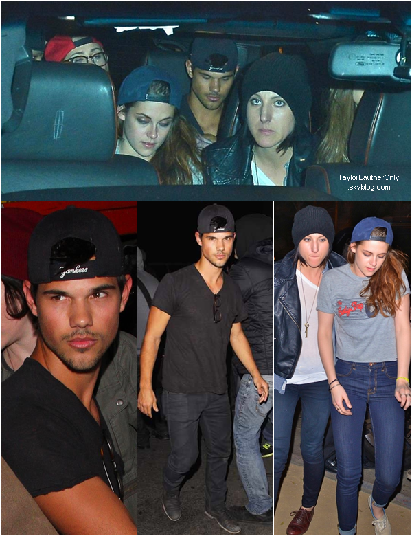 . Taylor et Kristen étaient avec des amis au club Troubadour a Hollywood le 5 mars :.