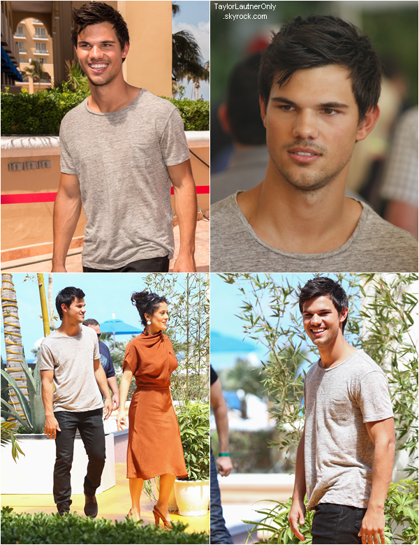 . Taylor était a Cancun (Mexique) pour la promo de Grown Ups 2 le 18 avril :.