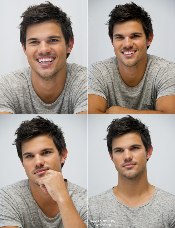 . Portraits de Taylor lors d'une conférence de presse toujours au Mexique pour Grown Ups 2 ♥ .