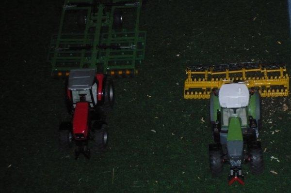 enssenble de mes tracteur dans se dioramma