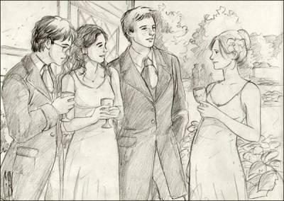 Encore Un Dessin De Martha Harry Hermione Ron Et Ginny