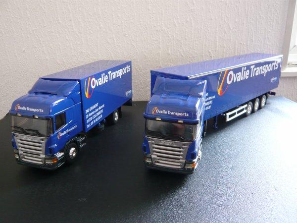 "Scania R470 Highline "" Transports OVALIE "" Eligor LBS 1/43ème Ref: 113908 et 1113909"