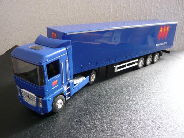 """Renault Magnum 480 semi tautliner """" Transports ABX """" Eligor LBS Ref: 112406"""