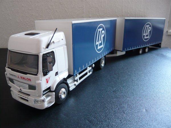 """Renault Premium 460dXi Camion Remorque Tautliner """" Transports LTR Vialon """" Eligor LBS 1/43ème Ref:114266"""
