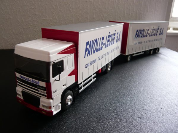 "Daf XF95 430 cv Camion Remorque Tautliner 4x2 "" Transports Fayolle Lécué "" Eligor LBS 1/43ème Ref: 114396 ex: 03/30"