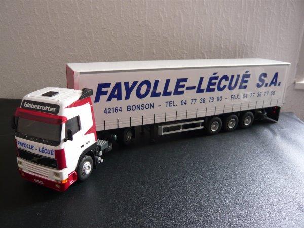 "Volvo FH 12 380 cv Semi Tautliner "" Transport Fayolle Lécué "" Eligor LBS 1/43ème Ref: 114397 Ex: 03/30"