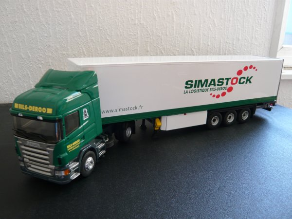 "Scania R420 Highline Semi Fourgon "" Transports Bils Deroo / Simastock"" Eligor LBS 1/43ème Ref: 114394"