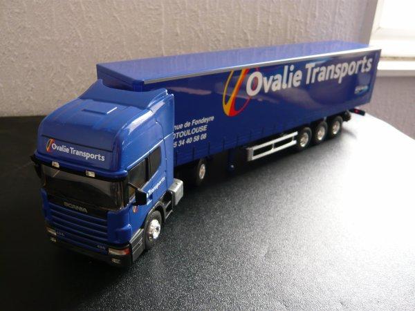 "Scania 124L 420cv Topline Semi Tautliner "" Transports Ovalie "" Eligor LBS 1/43ème Ref: 112969"