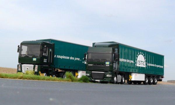 """Duo de camions Eligor """" Transports Boudet 18 Saint Florent Sur Cher """" Eligor LBS 1/43ème"""