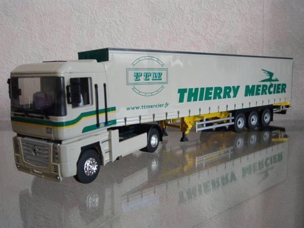 "Renault Magnum 3 440 tautliner Darbon ""Transports Thierry Mercier"" Eligor LBS Ref:114483"