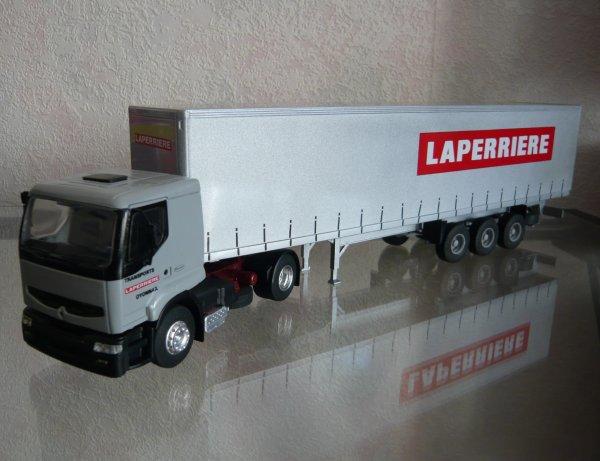 "Renault Premium Toit Bas Remorque Tautliner "" Transports Laperriere "" Eligor LBS Ref:111794"