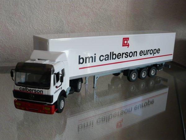 """Mercedes SK 1948  EPS Remorque Fourgon  """" Transports BMI CALBERSON EUROPE """" Eligor LBS REf: 110258"""