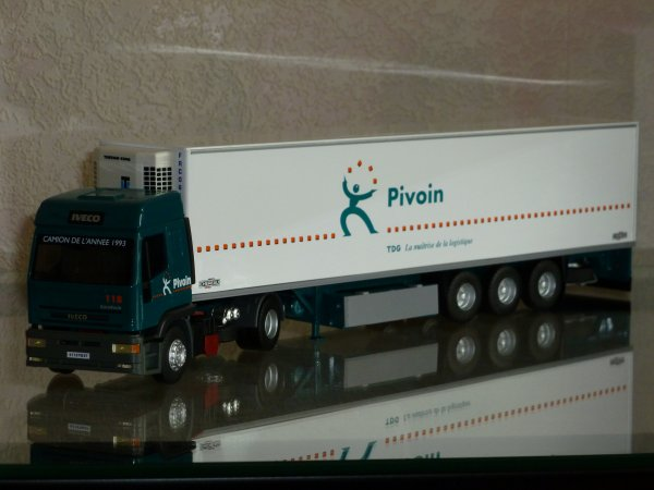 "Iveco Eurotech Semi Frigo Cherau "" Transports Pivoin TDG "" Eligor LBS Ref: 114570 N°03/16"