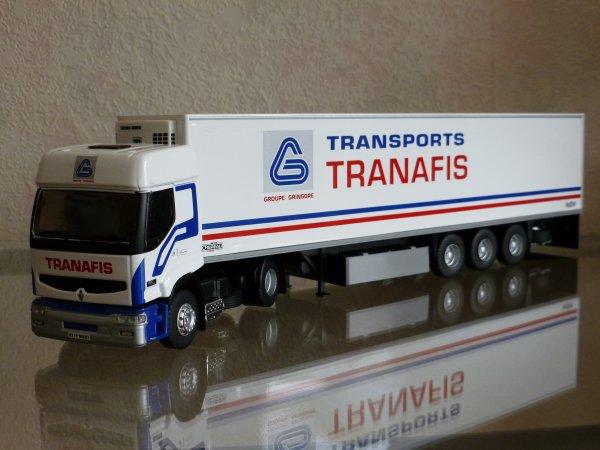 """Renault Premium 420 dCi Remorque Frigo Chereau """" Transports Tranafis Gringore """" Eligor LBS Ref:114572 N°03/16"""