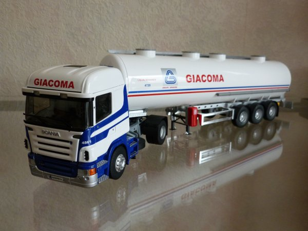 """Scania R420 Highline Remorque Citerne Alimentaire """" Transports Giacoma Gringore """" Eligor LBS Ref: 114574 N°03/16"""