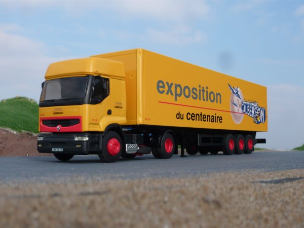 "Renault Premium Remorque Fourgon "" Transports Calberson Exposition du Centenaire "" Eligor LBS Ref:112265"