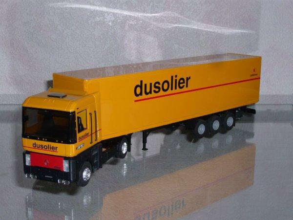 "Renault AE500 Magnum Remorque Fourgon "" Transports Dusolier "" Eligor LBS 1/43ème REF: 110875"