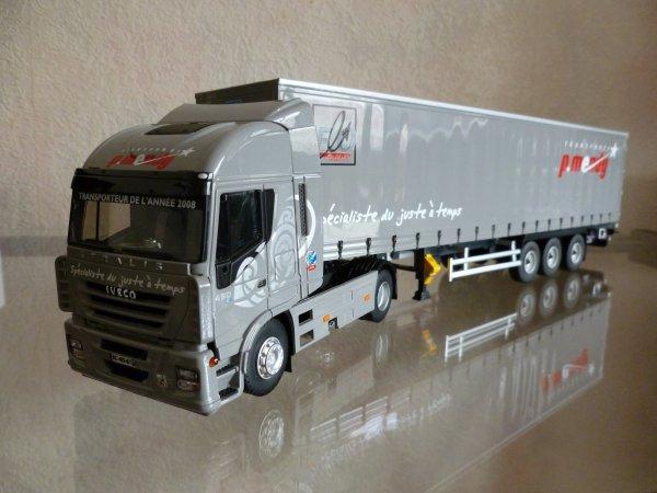 "Iveco Stralis AS 450 E5 Remorque Tautliner Libner "" Transports Mendy "" Eligor LBS Ref:114551 N°03/25"