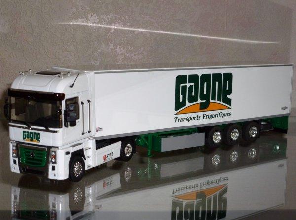 """Renault Magnum 2008 480dXi Remorque Frigo Chereau """" Transports Gagne """" Eligor LBS REF:114639"""