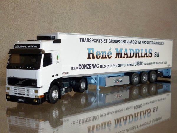 """Volvo FH12 420 Globetrotter Remorque Frigo Chereau """" Transports René Madrias SA """" Eligor LBS 1/43 ème Ref: 114632 Ex N° 03/12"""