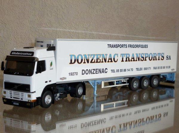 "Volvo FH12 420 Globetrotter Remorque Frigo Chereau "" Donzenac Transports SA "" Eligor LBS 1/43 ème Ref: 114633 Ex N° 03/12"