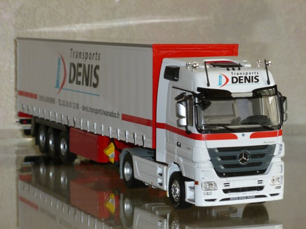 "Mercedes Actros Mp3 1844 Mégaspace Semi Tautliner "" Transports Denis "" Eligor Lbs: 114671"