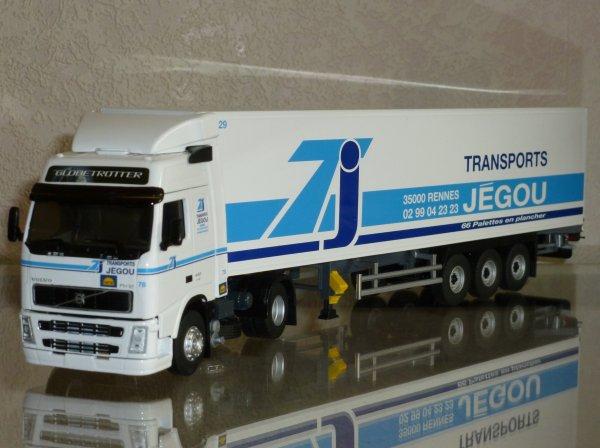 """Volvo FH2 440 Euro4 Globetrotter Semi Fourgon """" Transports Jégou """" Eligor LBS REF: 114656"""