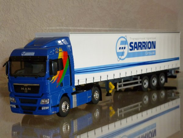 "MAN TG-X XL 440 Semi Tautliner "" Transports Sarrion Charbonnier "" Eligor LBS REF: 114638"