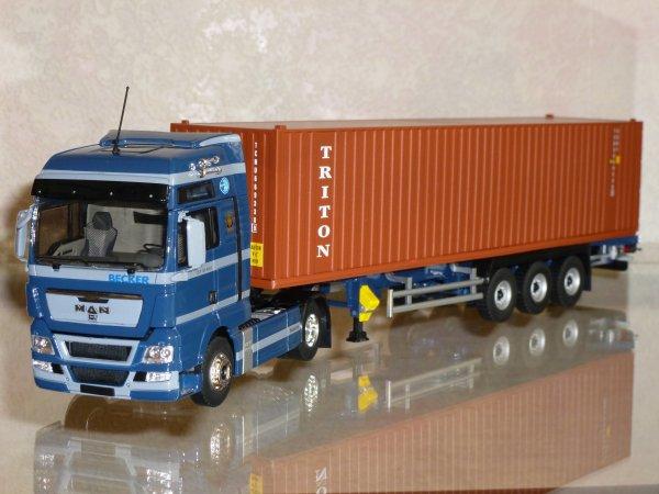 "MAN TG-X XL 480 Semi Container Triton "" Transports Becker "" Eligor LBS REF: 114637"