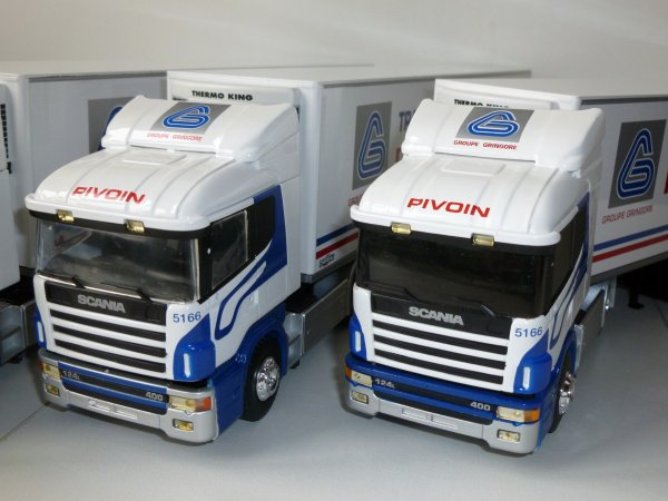 "Scania Serie 4 124L 400 Frigo Chereau "" Transports Pivoin "" Eligor LBS Ref: 111237 (3 variantes)"