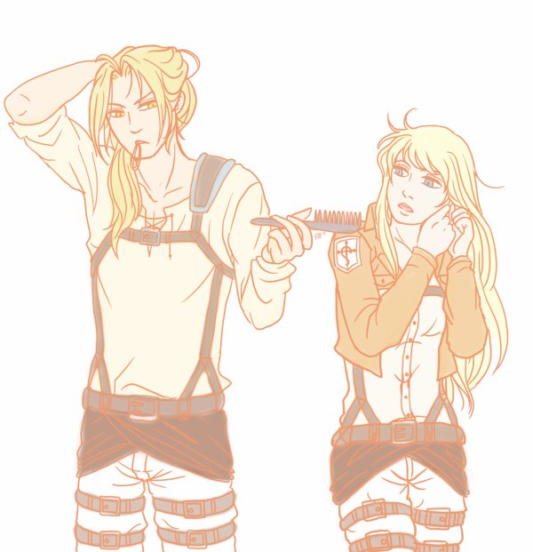 Edward and Winry en mode SnK
