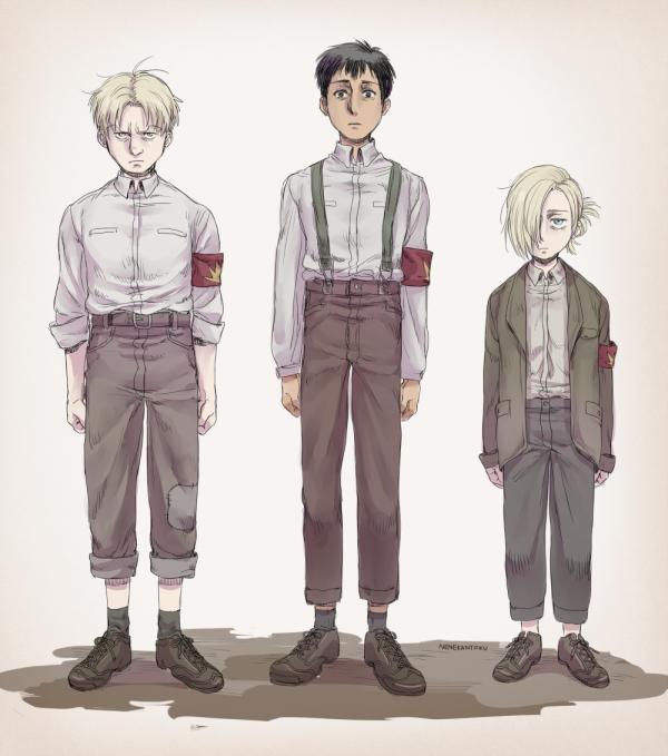 Reiner, Berthold et Annie.
