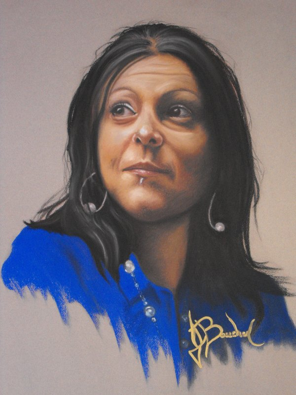MÉLANIE ( Portrait Pastel sec ) 16x20