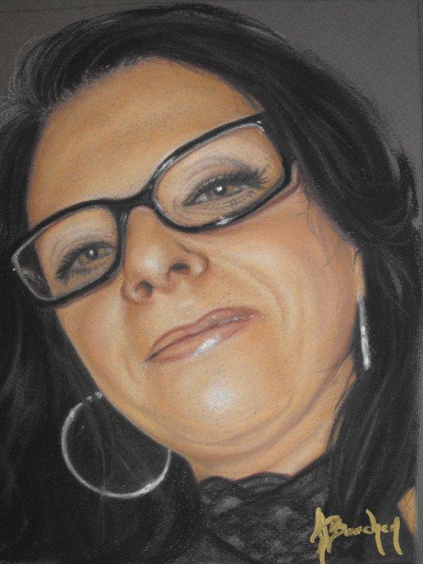 Autoportrait. Pastel sec. 8X10
