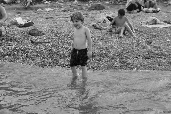 les premiers pas dans l'eau