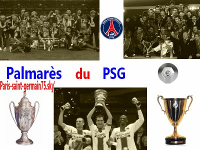 Le palmarès du Paris saint-germain